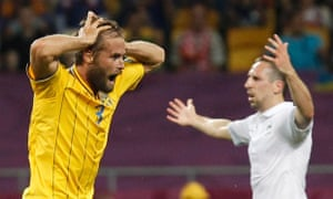 Sweden's Olof Mellberg and France's Franck Ribery