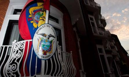 The embassy of Ecuador in London