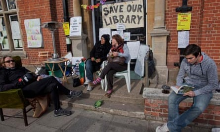 Campaigners outside Kensal Rise library in October last year