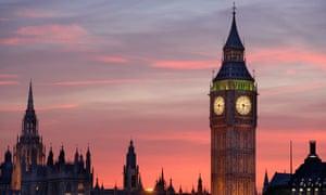 Tower housing Big Ben