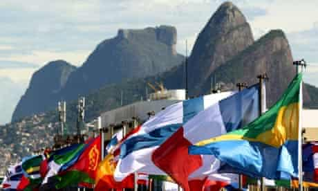 A host of national flags fly in Rio ahead of the Rio+20 Earth Summit
