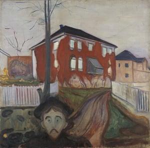 Munch's painting Red Virginia Creeper
