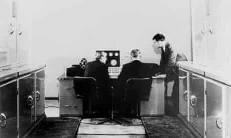 ALan Turing with Madam computer machine