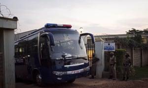 Ugandan police leave after raiding a gay rights workshop