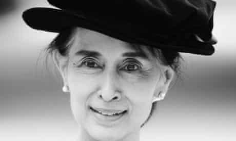 Aung San Suu Kyi Oxford b/w