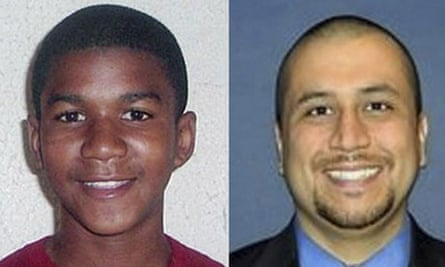 Trayvon Martin, left, and the man who shot him dead, George Zimmerman