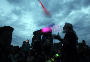 summer solstice: Jugglers and firebreathers
