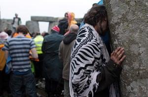 summer solstice: Revellers Celebrate Summer Solstice At Stonehenge