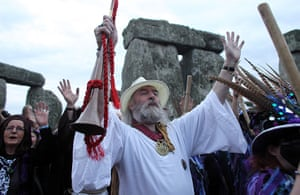 summer solstice: Rollo Maughfling, the Archdruid of Glastonbury and Stonehenge