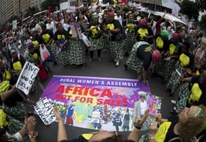 rio+20: African activist during global march