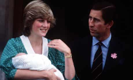 Diana Departs From St Mary's Hospital With Prince William