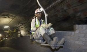Miner at Xstrata mine