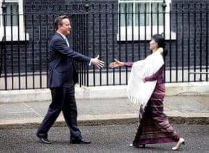Aung San Suu Kyi Uk visit: Aung San Suu Kyi Meets Prime Minister David Cameron