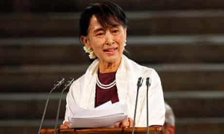 Aung San Suu Kyi at Westminster Hall