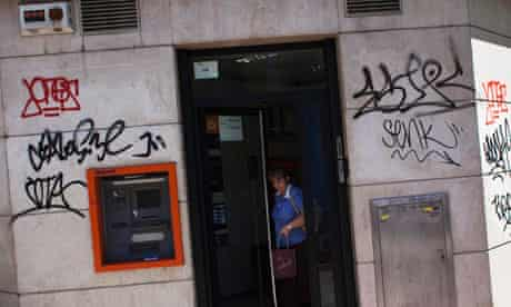 A bank branch in Madrid