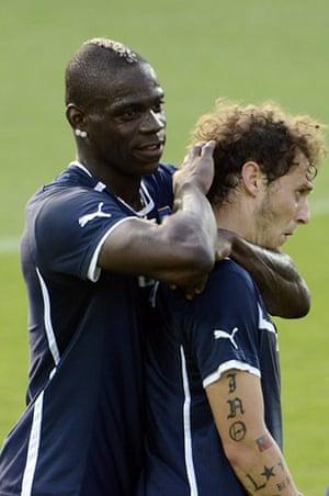 Balotelli: Balotelli and Alessandro Diamanti