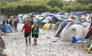 Isle of White: The campsite covered in mud
