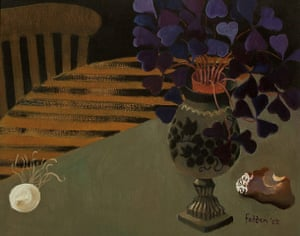 Mary Fedden: Flowers In A Jug, a painting by Mary Fedden