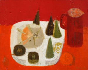Mary Fedden: Red Jug, a painting by Mary Fedden