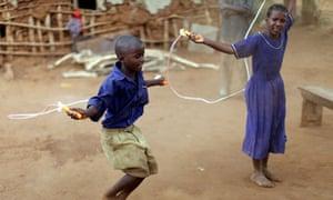 children skipping