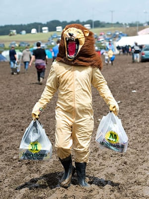 ISle of Woght: A festival goer braves the mud