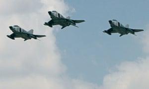 Turkey air force F-4E jets