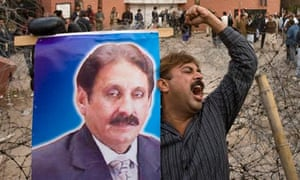 protest against Pakistan President Pervez Musharraf  image of Chief Justice Iftikhar Chaudhry