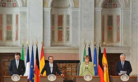 Eurozone leaders in Rome