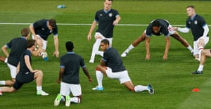 sport2: England's players warm up
