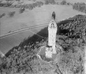 Rare aerial photographs: Aerial photos of Britain go online the Wallace Monument