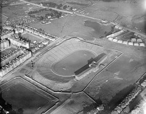 Rare aerial photographs: Aerial photos of Britain go online: Hampden Park