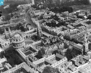 Rare aerial photographs: Aerial photos of Britain go online: High Street, Oxford