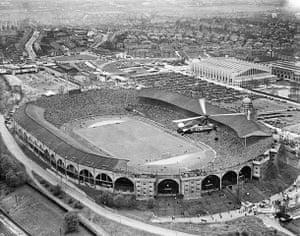 Rare aerial photographs: Aerial photos of Britain go online: Wembley Stadium