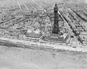 Rare aerial photographs: Aerial photos of Britain go online: Blackpool Tower
