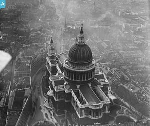 Rare aerial photographs: Aerial photos of Britain go online: St Paul's Cathedral