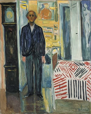 Edvard Munch: Self Portrait....Between The Clock And The Bed, by Edvard Munch