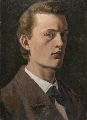 Edvard Munch: Self-Portrait 1882, by Edvard Munch