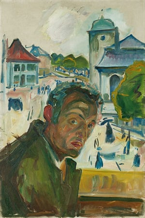 Edvard Munch: Self Portrait In Bergen 1916, by Edvard Munch
