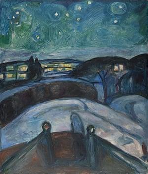 Edvard Munch: Starry Night 1922-1924 , by Edvard Munch