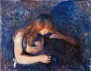 Edvard Munch: Vampire 1893, by Edvard Munch