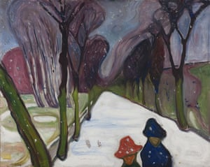 Edvard Munch: New Snow in the Avenue 1906 , by Edvard Munch