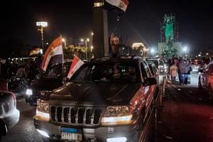 24 hours: Cairo, Egypt: Egyptians celebrate the election of new president Morsi