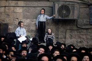 24 hours: Jerusalem, Israel: Ultra-Orthodox Jewish men and boys protest