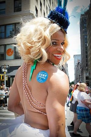 Gay pride week: New York, US: The parade took on extra significance in New York