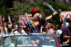 Gay pride week: New York, US: Grand Marshall Cyndi Lauper