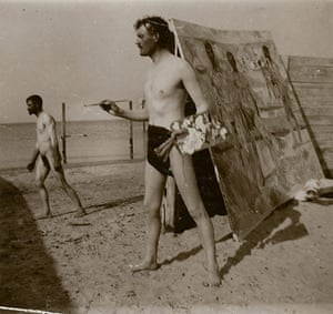 Edvard Munch 2: Self Portrait On Beach by Munch