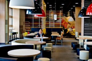 McDonald's Olympic park: The interior of McDonald's at the Olympic park