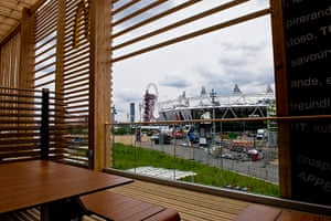 McDonald's Olympic park: The view from the McDonald's at the Olympic park