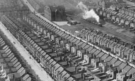 March 1921: Densely packed housing in Kensal Rise, London.