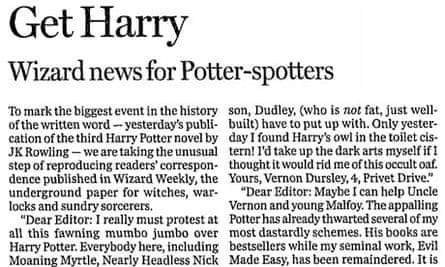 Harry Potter leader article